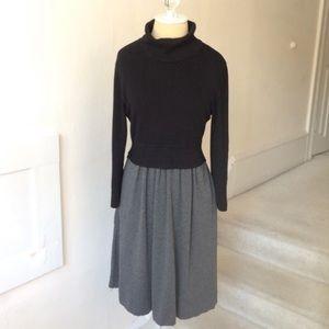 Anthropologie Moth Color Block Sweater Dress EUC